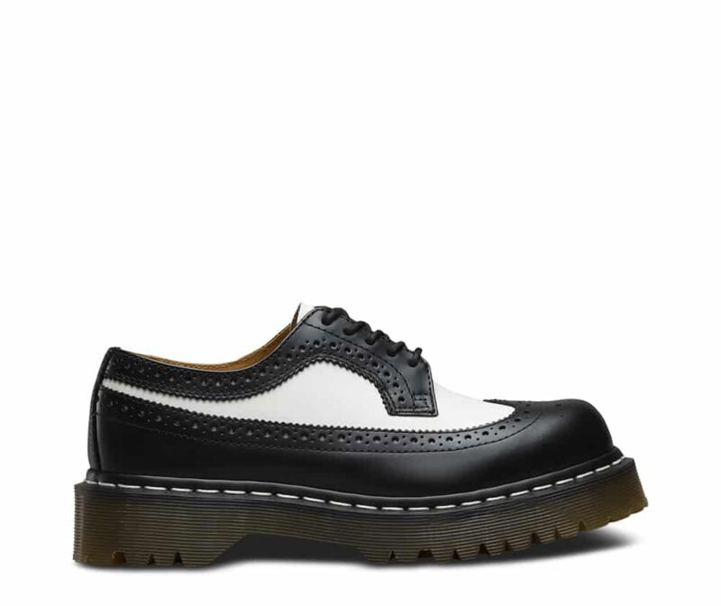 Dr. Martens 3989 Brogue BEX Black and White 3-Eye Shoe 1