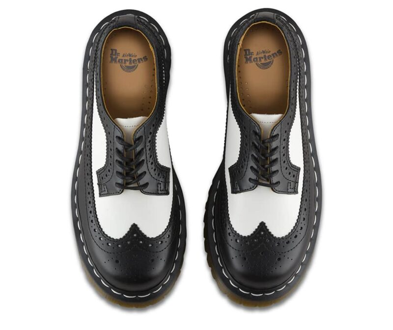Dr. Martens 3989 Brogue BEX Black and White 3-Eye Shoe 6