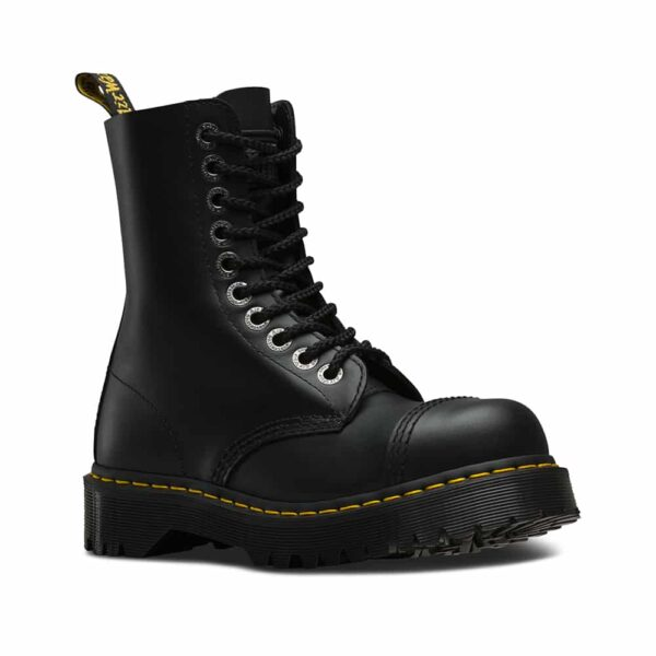 Dr. Martens 8761 Black BXB Steel Toe 10-Eye Boot