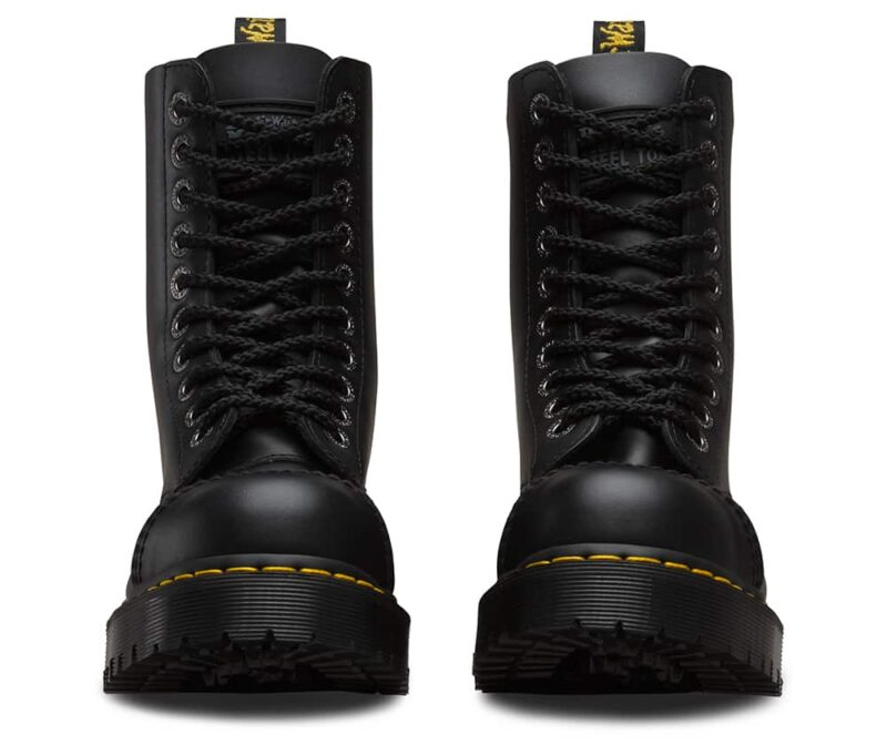 Dr. Martens 8761 Black BXB Steel Toe 10-Eye Boot 2