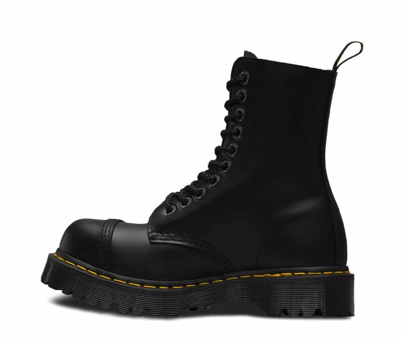 Dr. Martens 8761 Black BXB Steel Toe 10-Eye Boot 3