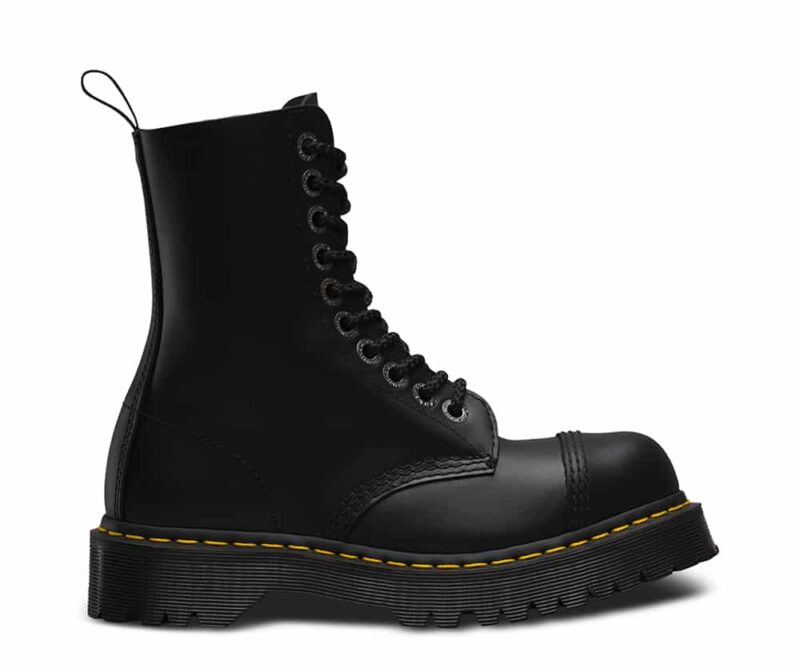 Dr. Martens 8761 Black BXB Steel Toe 10-Eye Boot 1