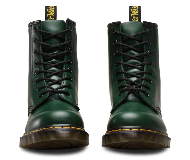 Dr. Martens 1460 Green Smooth 8-Eye Boot 2
