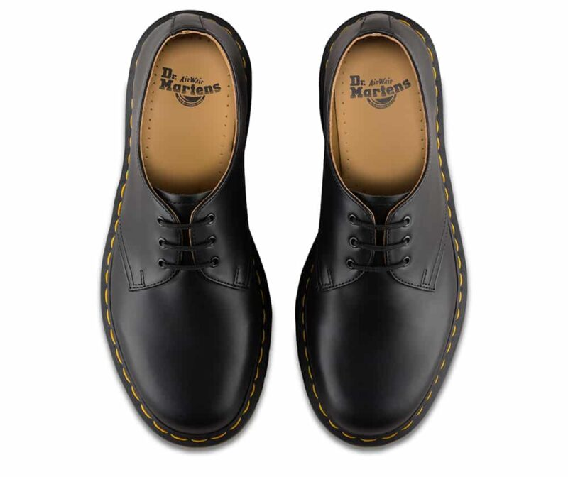 1461/11838002 Black Smooth 3-Eye Shoe 7