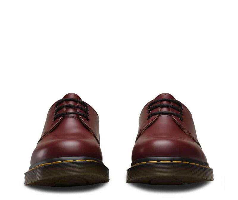Dr. Martens 1461 Cherry Red Smooth 3-Eye Shoe 2