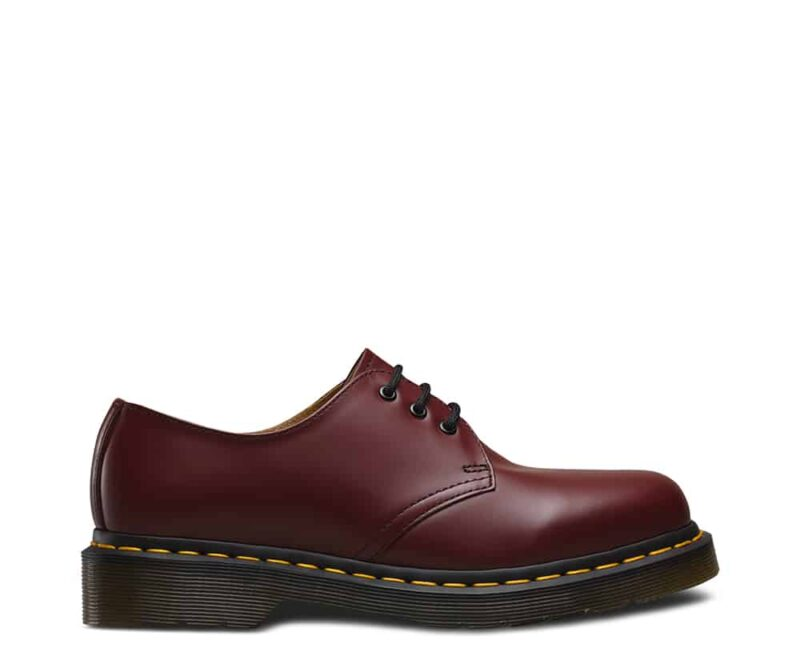 Dr. Martens 1461 Cherry Red Smooth 3-Eye Shoe 1