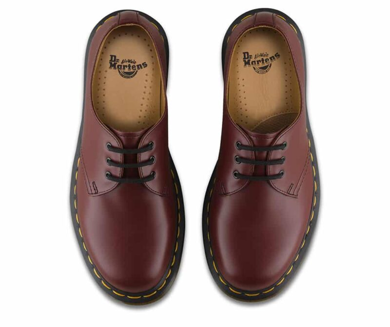 Dr. Martens 1461 Cherry Red Smooth 3-Eye Shoe 6