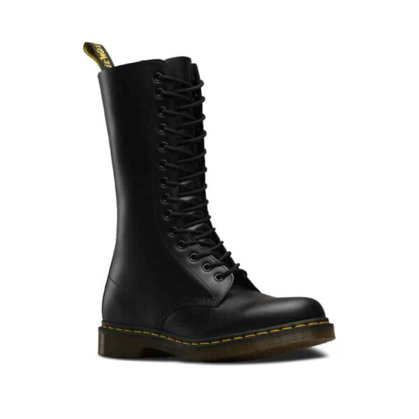 Black Smooth 14-Eye Boot
