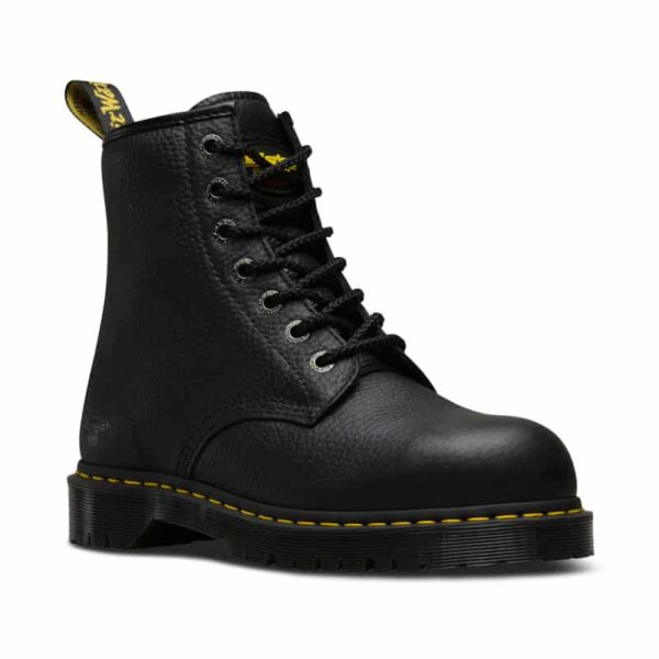 Dr. Martens Icon 7B10 Black Industrial Bear 7-Eye Work Boot