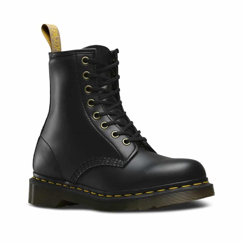 Dr. Martens 1460 Vegan Black Felix Rub Off 8-Eye Boot