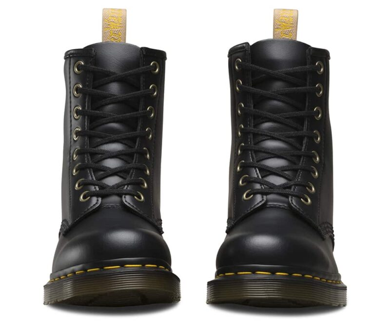 1460 Vegan Black Felix Rub Off 8-Eye Boot 3