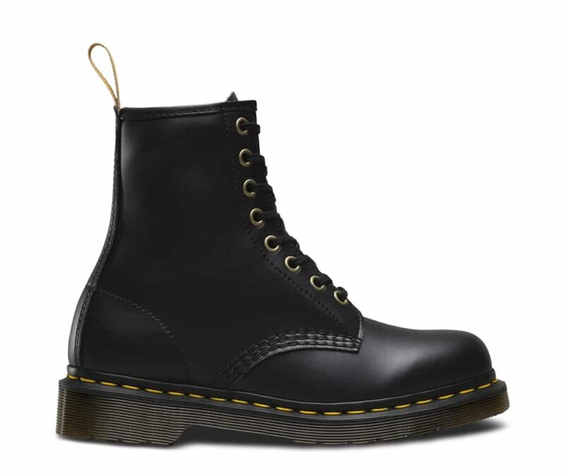 1460 Vegan Black Felix Rub Off 8-Eye Boot 2
