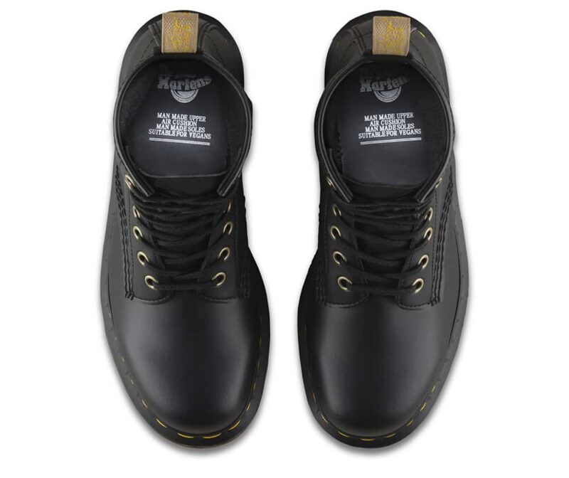 Dr. Martens 1460 Vegan Black Felix Rub Off 8-Eye Boot 6