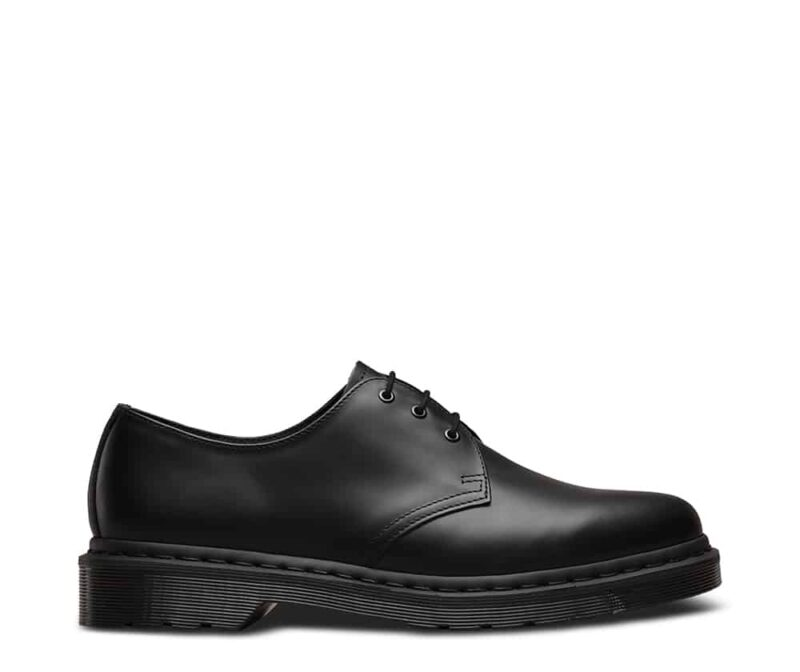 1461 Black Mono Smooth 3-Eye Shoe 1