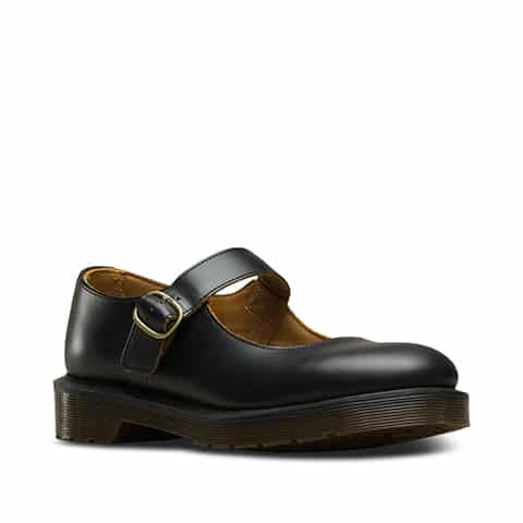 Dr. Martens Indica Black Vintage Smooth Mary Janes