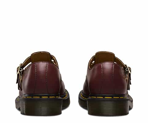 Dr. Martens 8065 Cherry Red Smooth Mary Janes 4