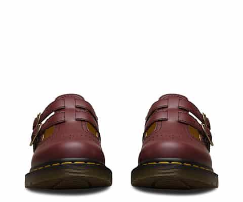 8065 Cherry Red Smooth Mary Janes 2