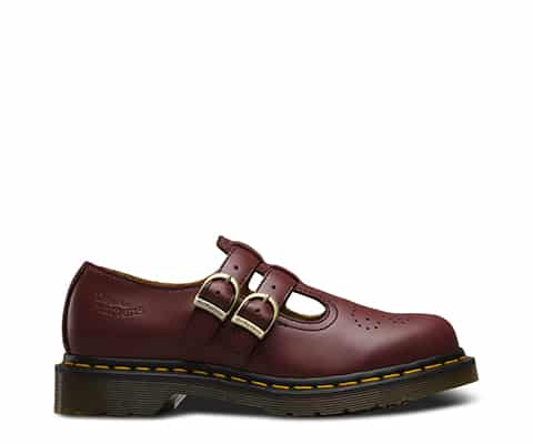 8065 Cherry Red Smooth Mary Janes 1