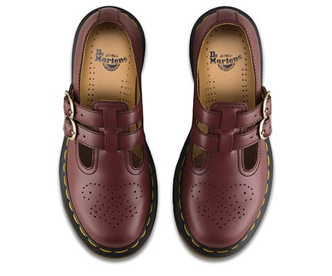 Dr. Martens 8065 Cherry Red Smooth Mary Janes 6