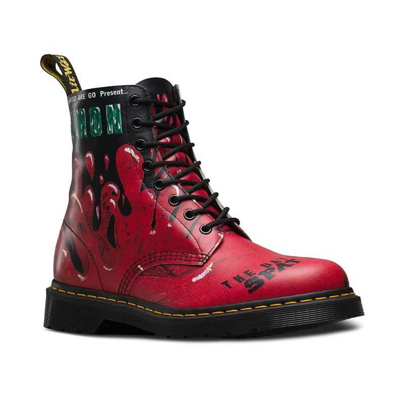 1460/21093102 Pascal Red Demented Are Go 8-Eye Boot