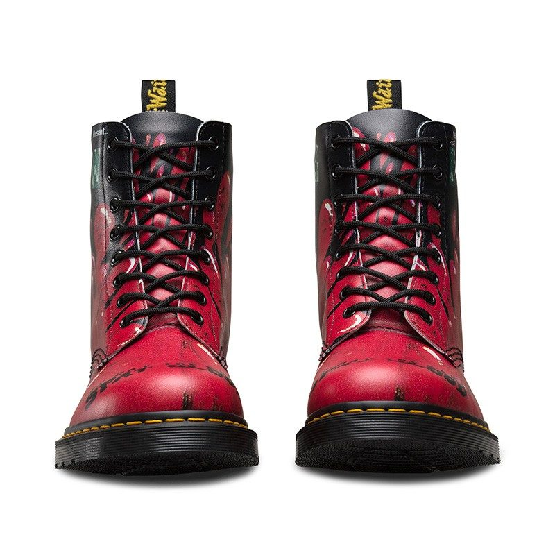 Dr. Martens 1460 Pascal Red Demented Are Go 8-Eye Boot 2