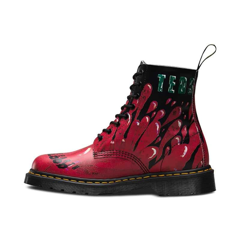 Dr. Martens 1460 Pascal Red Demented Are Go 8-Eye Boot 3