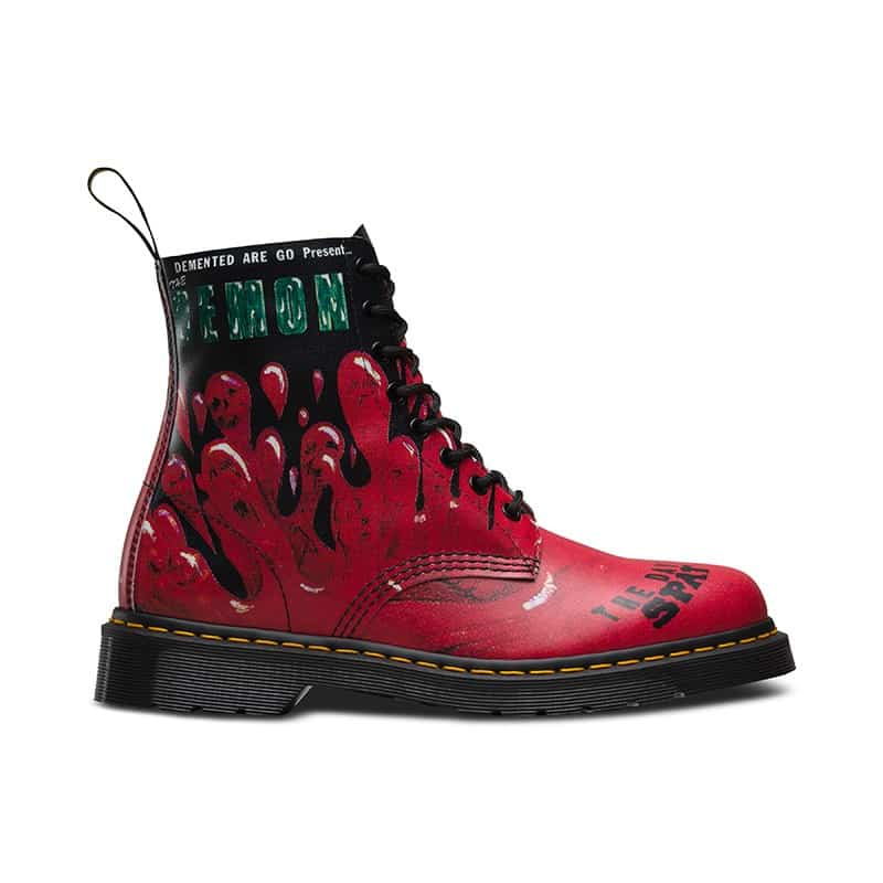 Dr. Martens 1460 Pascal Red Demented Are Go 8-Eye Boot 1