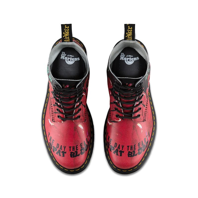 Dr. Martens 1460 Pascal Red Demented Are Go 8-Eye Boot 6