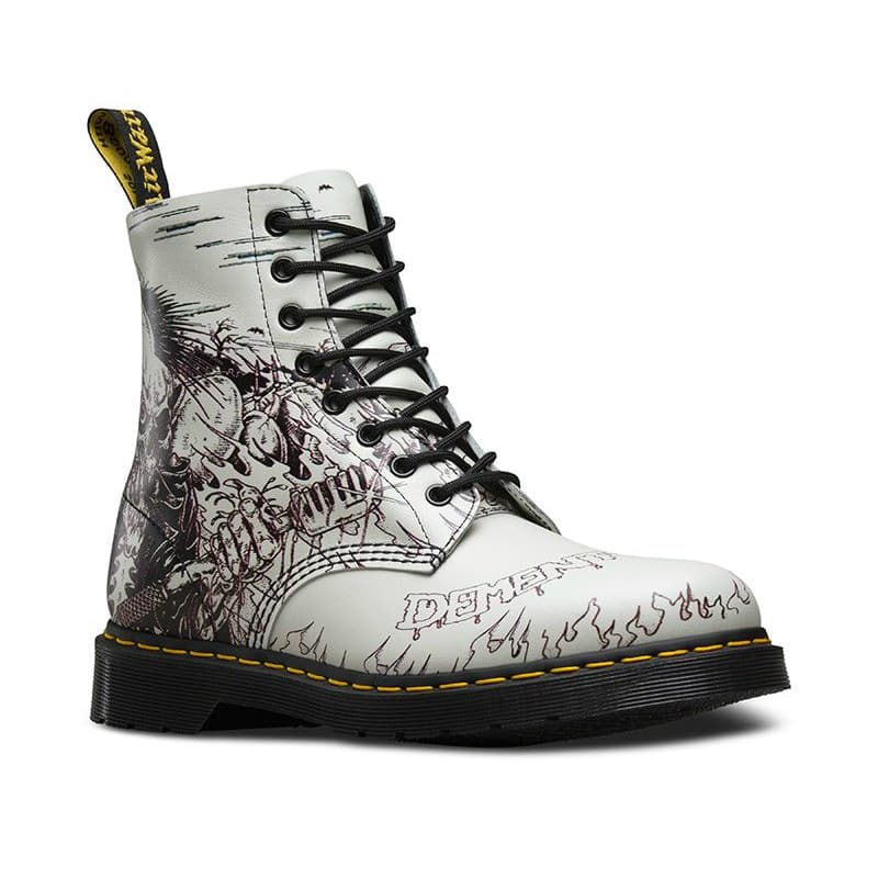 1460/21093102 Pascal White Demented Are Go 8-Eye Boot