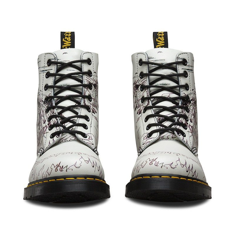 Dr. Martens 1460 Pascal White Demented Are Go 8-Eye Boot 2