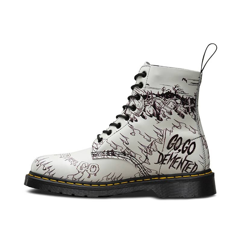 Dr. Martens 1460 Pascal White Demented Are Go 8-Eye Boot 3