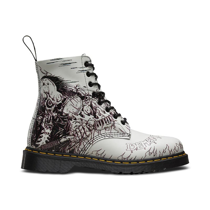 Dr. Martens 1460 Pascal White Demented Are Go 8-Eye Boot 1