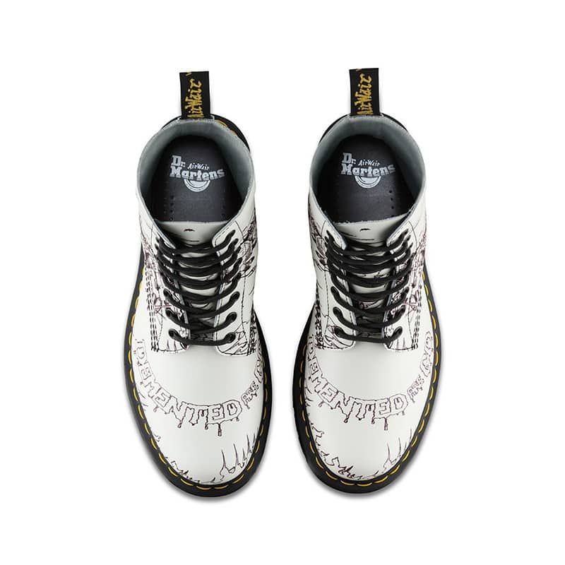 Dr. Martens 1460 Pascal White Demented Are Go 8-Eye Boot 6