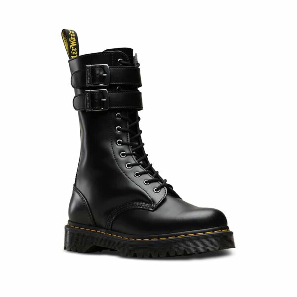 24632001 Caspian Alt Black Smooth 12-Eye Boot