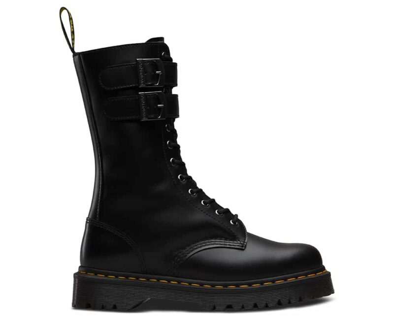 Dr. Martens Black Caspian Alt 12-Eye Boot 1