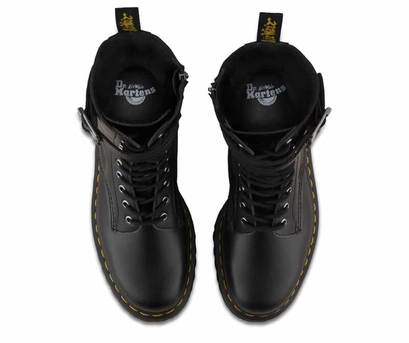 Dr. Martens Black Caspian Alt 12-Eye Boot 4