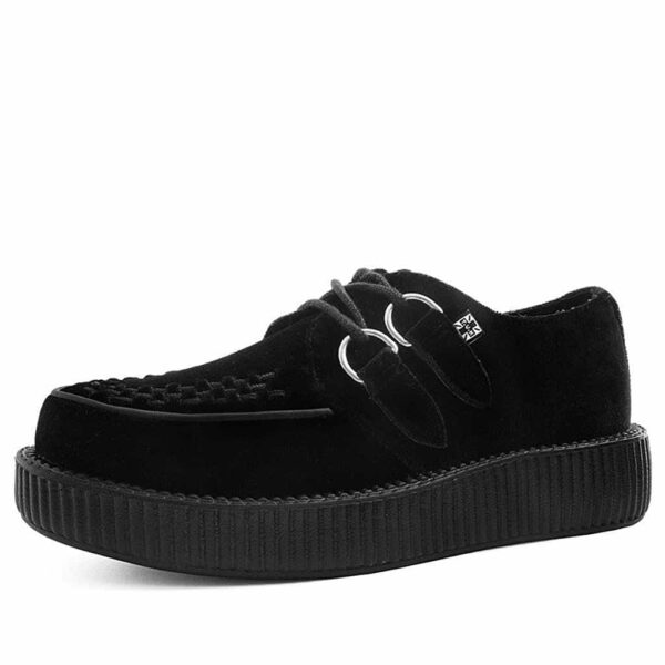 TUK Black Velvet Low Sole Creeper V9308