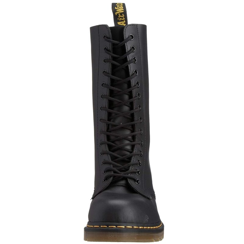 1940 Black Fine Haircell 14-Eye Steel Toe Boot 2