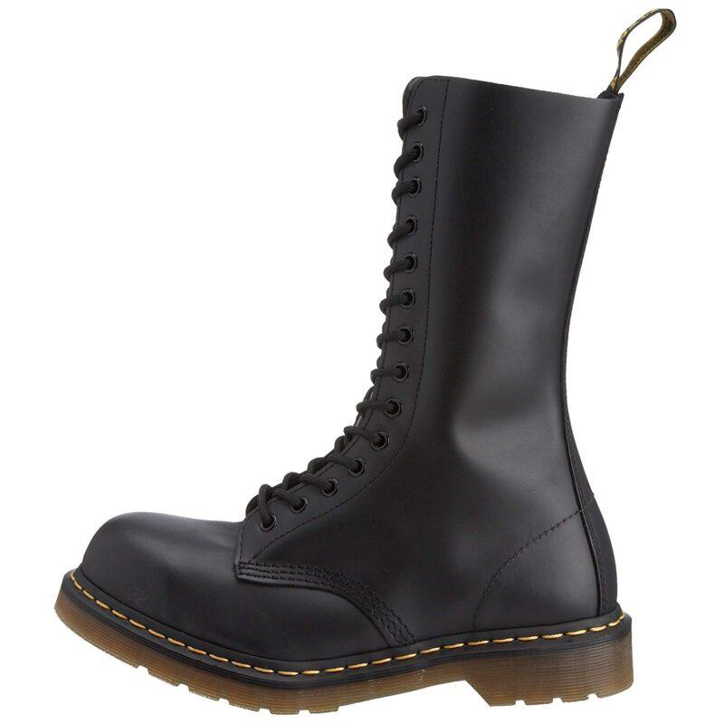 1940 Black Fine Haircell 14-Eye Steel Toe Boot 3