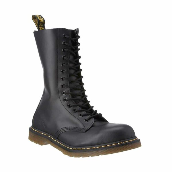 1940 Black Fine Haircell 14-Eye Steel Toe Boot