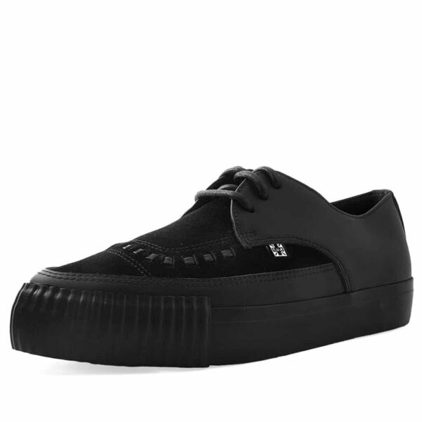 TUK Black Suede Pointed EZC Sneaker A9362