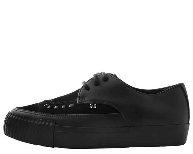 TUK Black Suede Pointed EZC Sneaker A9362 2