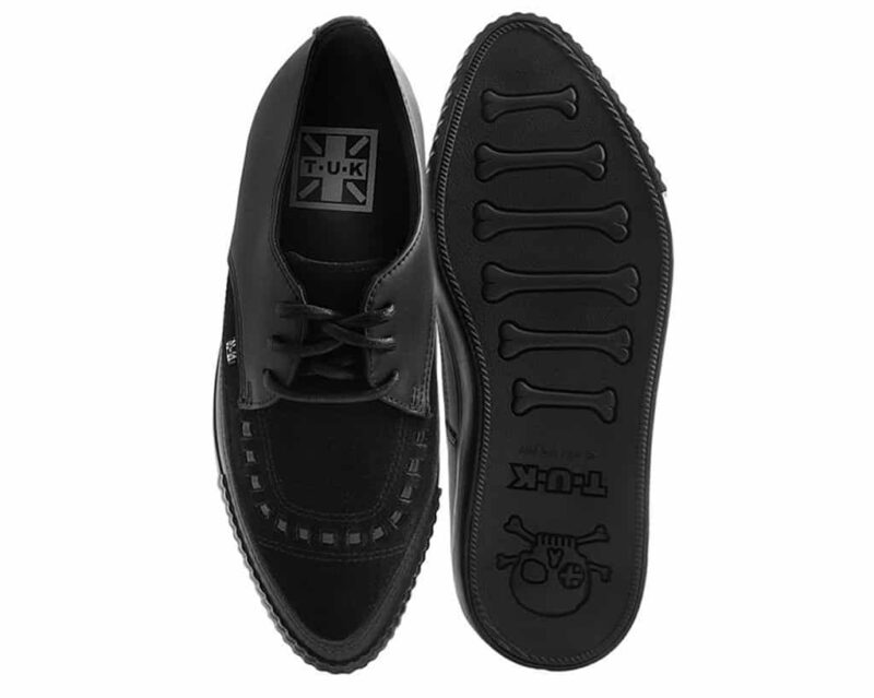 TUK Black Suede Pointed EZC Sneaker A9362 3