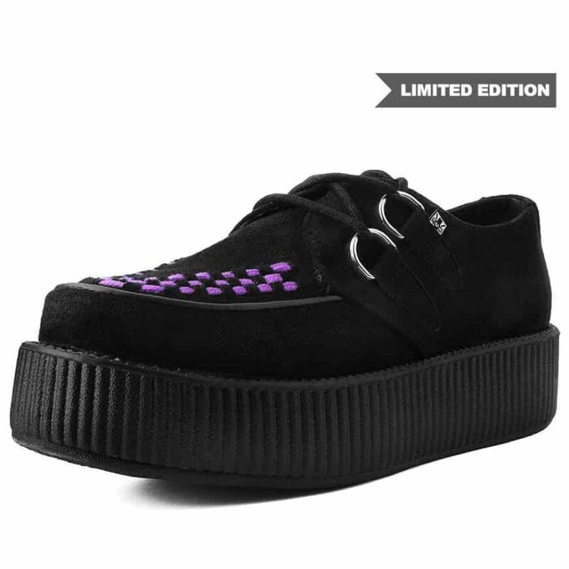 TUK Black and Purple Suede Mondo Creeper V9533