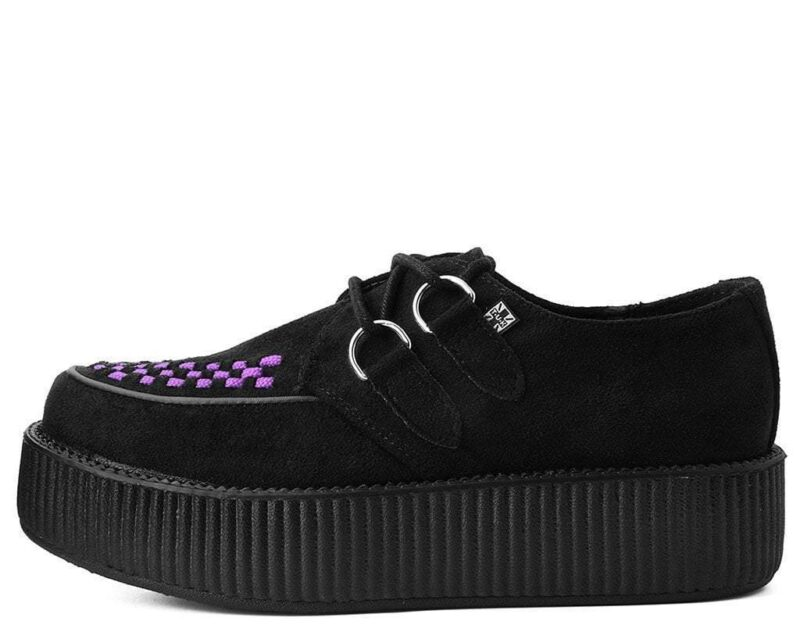 TUK Black and Purple Suede Mondo Creeper V9533 2