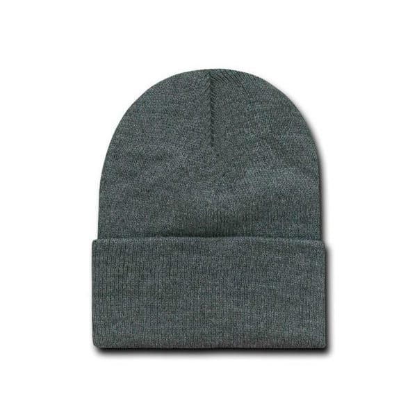 Heather Charcoal Cuff Beanie