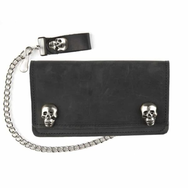 Skull Snap Leather Wallet