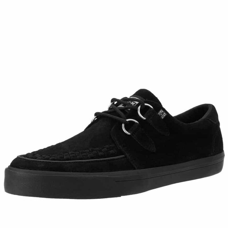 TUK Black Suede Sneaker Creeper A9178