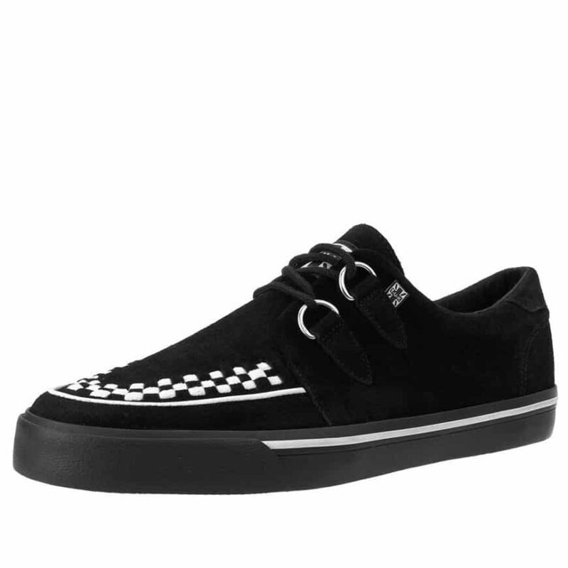 TUK Black and White Suede Sneaker Creeper A9182