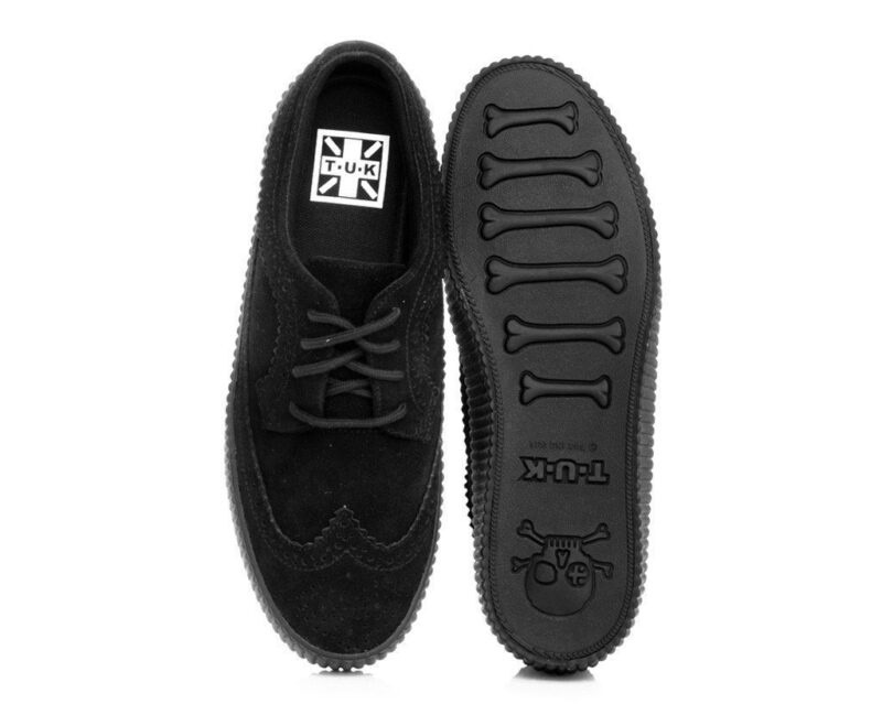 TUK Black Suede EZC Brogue Shoe A9254 4
